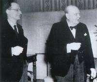 De Gasperi e Churchill