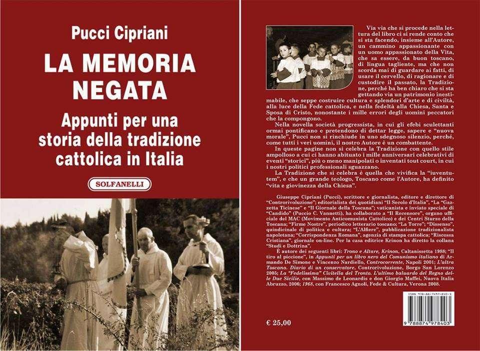 La Memoria negata. appunti per una Storia della Tradizione cattolica