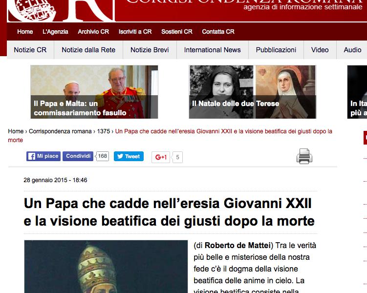 Ultime dal Vaticano: Manovre (Vane) per uscire dall'angolo senza dire la Verità