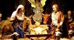 Betrachtung der Weihnachtskrippe