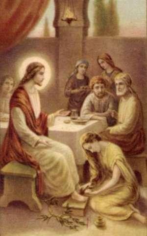 Maddalena che lava i piedi a gesù