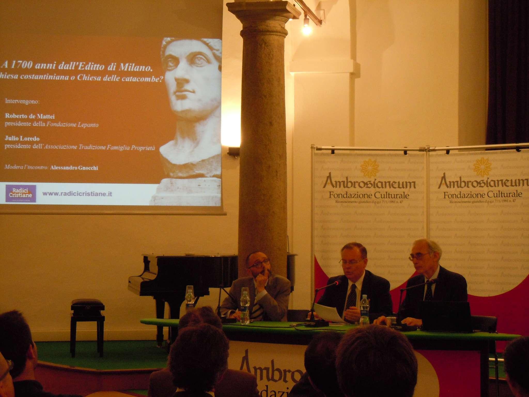 conferenza su Costantino