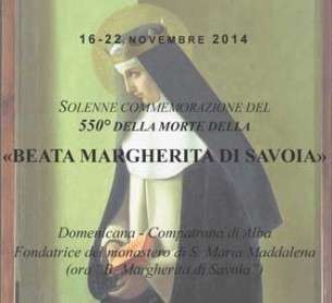 I 550 anni dalla morte della Beata Margherita di Savoia